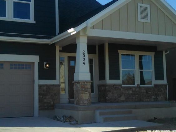 2024 E 800 S, Spanish Fork, UT 84660 — Brand new craftsman style home in new neighborhood with lots of amazing features! Granite countertops on white shaker cabinets with stainless steel appliances. Gorgeous colors coordinated by a professional designer. 9 ft ceilings on the main floor. All four bedrooms have walk in closets. The master suite is huge with a deluxe bathroom including a 6' two person jetted tub, double sinks and separate shower. The exterior has a mix of hardboard siding…