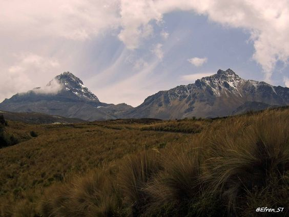 Ascenso a los Ilinizas, continua la aclimatación. Volcanes sobre nubes.