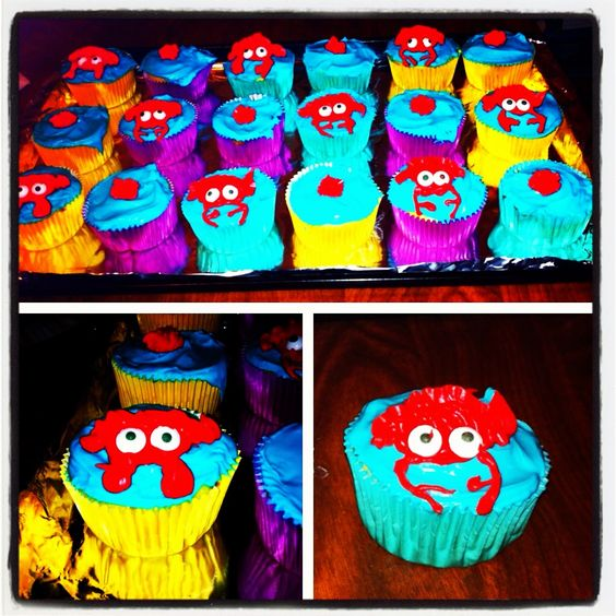 Crabby cupcakes! Easy to make!