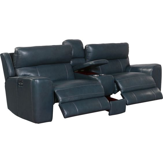 Newport 3 Piece Dual Power Reclining Sofa With Console American Signature Furniture Power Reclining Sofa Reclining Sofa Recliner