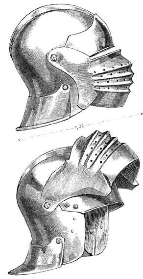 Resultados de la Búsqueda de imágenes de Google de http://upload.wikimedia.org/wikipedia/commons/4/4f/Bellows_Visored_Sallet_by_Emmanuel_Viollet-le-Duc_.jpg