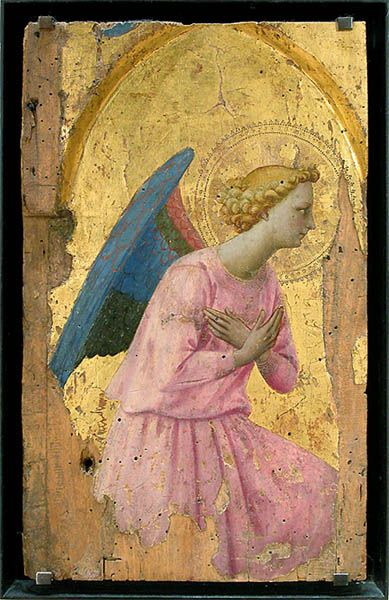 Ange en adoration - Fra Angelico  (Late medieval - probably very early Renaissance):