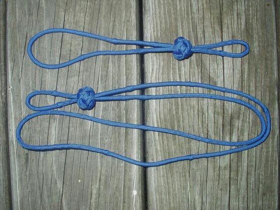 single strand lanyard knot