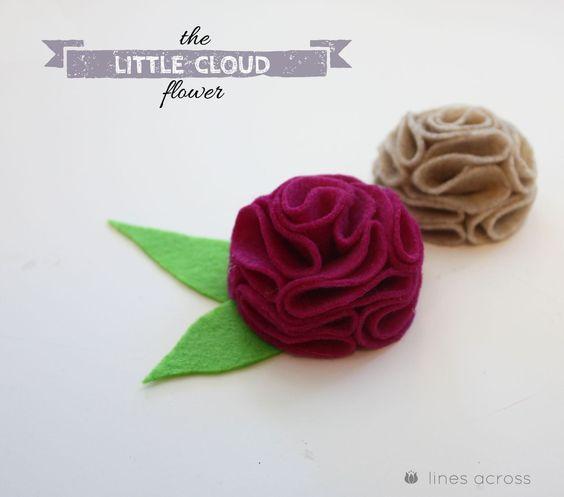 """""""Linhas"""" Através: a flor pequena nuvem"""