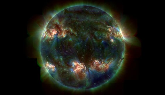 filtered image of the sun