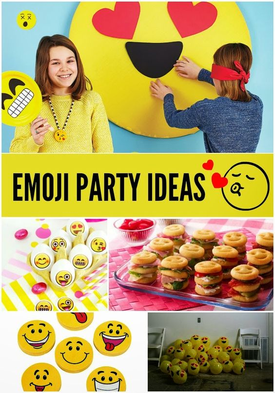 Emoji Party Ideas Awesome Party Themes Pinterest