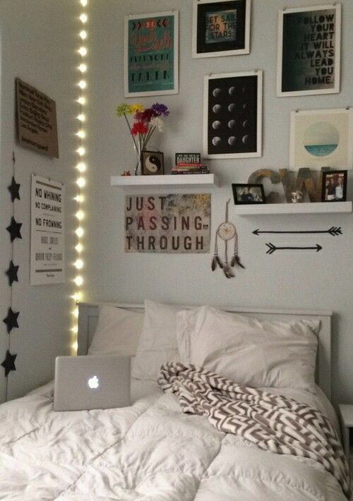 Imagem de room bedroom and tumblr bedroom pinterest for Bedroom ideas for small double rooms