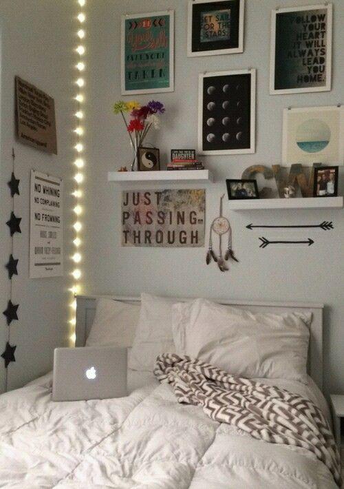 Imagem de room bedroom and tumblr bedroom pinterest for Chambre tumblr