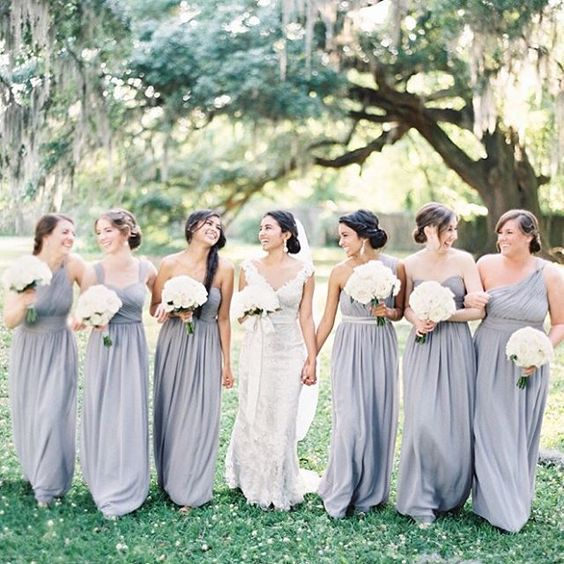 We're answering the top 10 #bridesmaid #FAQs today on the #blog! #weddingplanning #weddingtips | Photography: @marissalambertphotography | Wedding Dress: @yvonnelafleur_neworleans | Bridesmaids' Dresses: @donnamorgan_nyc | Floral Design: @nolaflora1 | Makeup: @mintuptown | Hair: Flawless Bride