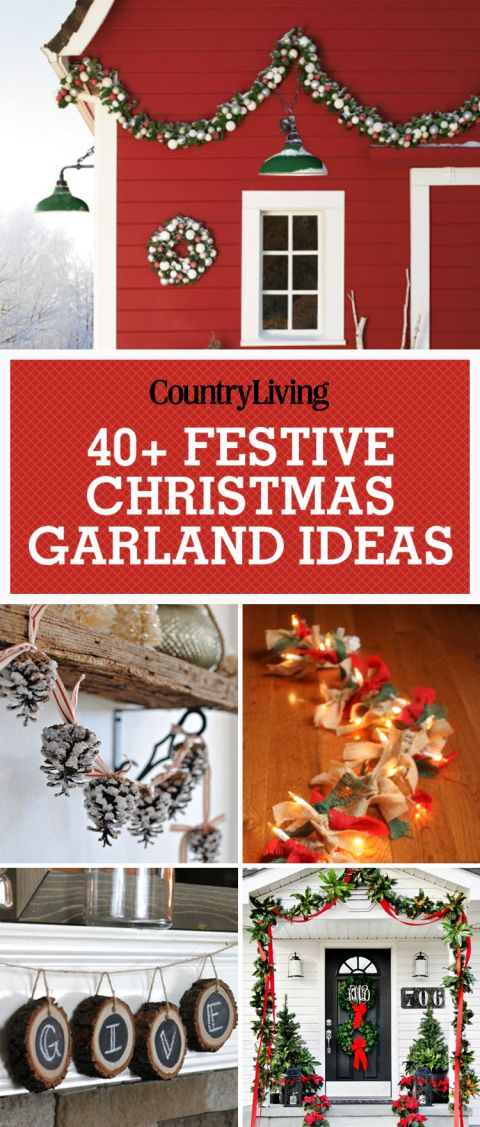 Spruce up your home this Christmas with these festive and beautiful ways to decorate with Christmas garlands. Add stockings and greenery to your mantel or staircase to give it that holiday comfort feeling for the entire family to enjoy!: