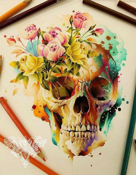 Skull draw vareta artist