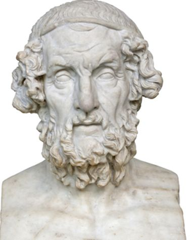Homer - 850 a.C  Idealized portrayal of Homer dating to the Hellenistic period. British Museum.