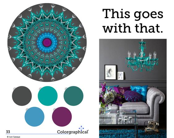 Wall Colour Inspiration: Turquoise, Paint Colors And Purple Color Schemes On Pinterest