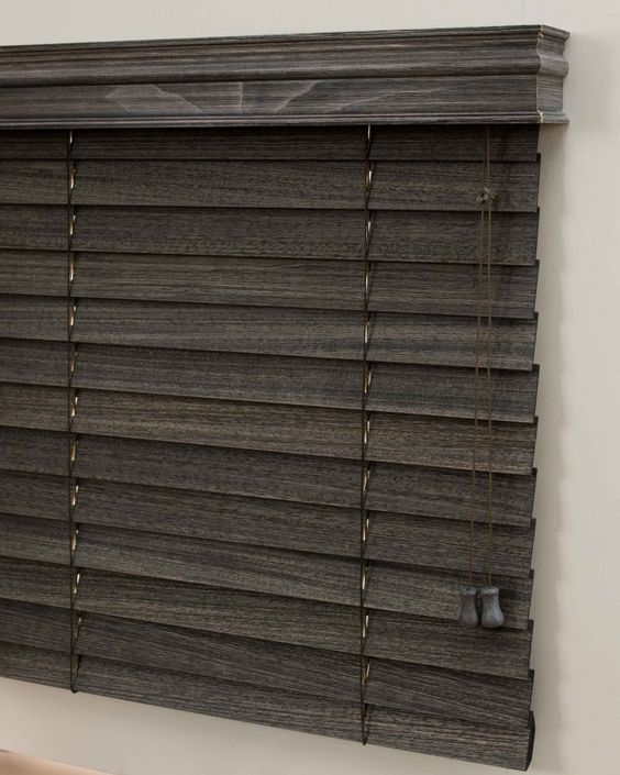How pretty are these scraped wood blinds?! Perfect for industrial or vintage style.