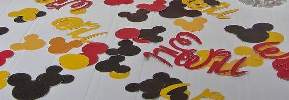 Mickey Mouse personalized confetti