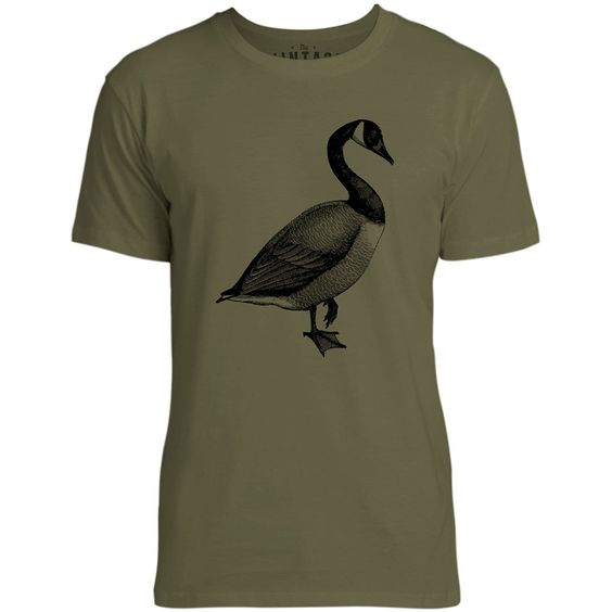 Mintage River Duck Mens Fine Jersey T-Shirt (Olive)