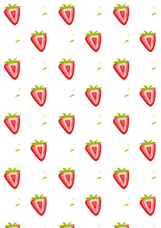 free printable strawberry pattern paper summerfruit planner pinterest papier. Black Bedroom Furniture Sets. Home Design Ideas