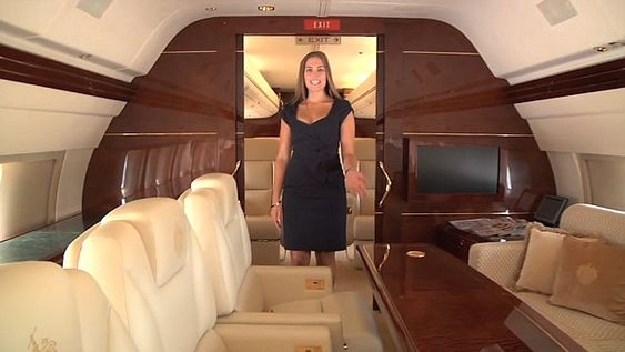 The Apprentice's Amanda Miller gives a tour of Mr. Trump's private 757 jet.