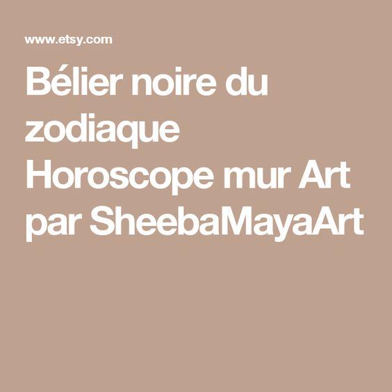 Bélier noire du zodiaque Horoscope mur Art par SheebaMayaArt