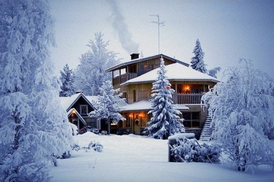 Winter Mountain House