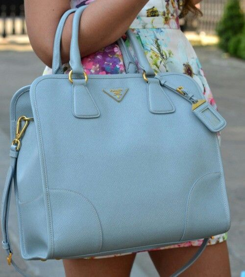 prada black leather shoulder bag - Pastel blue hand bag | # Baggoholic # | Pinterest | Pastel Blue ...