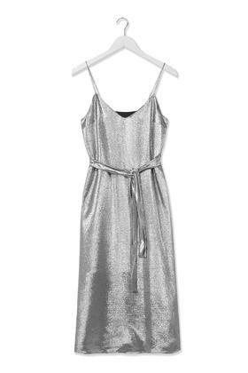 Lamé Slip Dress by Boutique