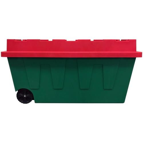Recycle Christmas Tree 2020 Lowes Centrex 64 Gallon (256 Quart) Green Holiday Tote with Latching Lid