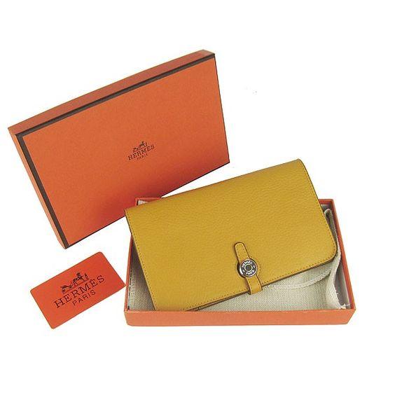 hermes birkin replica - Hermes Dogon Yellow Togo Sliver Hardware Women's Wallets wallets ...