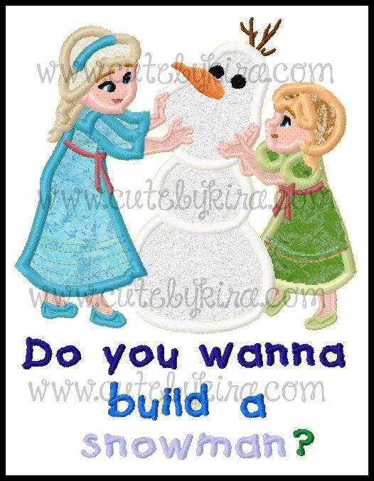 Cold Building a Snowman3 versions  Applique Machine by CuteByKira, $5.00
