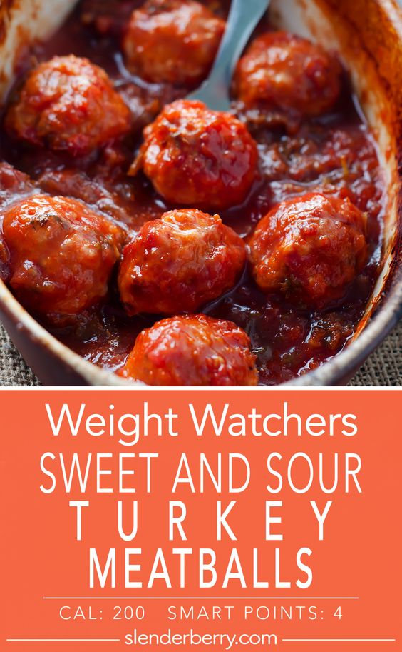 Weight Watchers Sweet and Sour Turkey Meatballs Recipe
