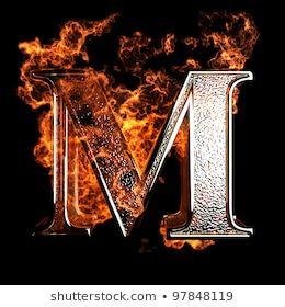 Fiery Letter M Font Images Stock Photos Vectors Shutterstock Poster Background Design M Letter Images Alphabet Photos