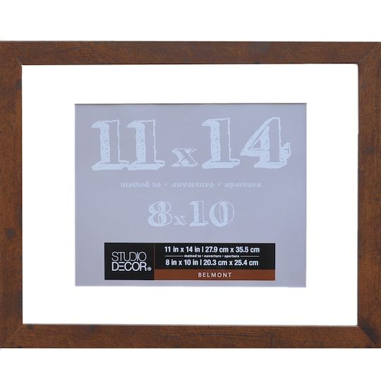 Honey Belmont Frame With Mat By Studio Decor Studio Decor Frame Wall Frames