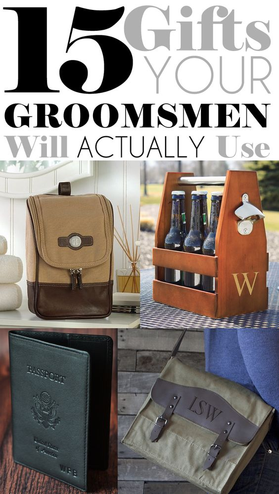 Wedding Gift Ideas For Boyfriends Brother : Thank you gifts, Groomsmen and Gift ideas on Pinterest