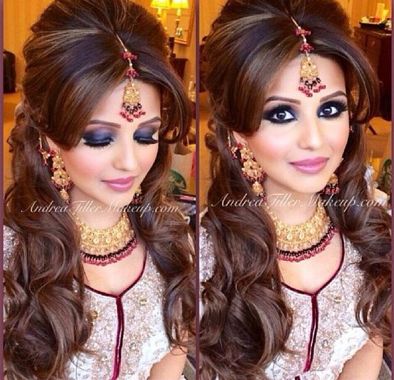 Hairstyles For Wedding Parties: Style, Indian Bridal And Party Hair On Pinterest
