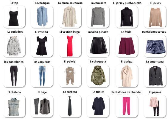 Vestidos - Spanish clothes vocabulary | Aprender Espau0148ol (learn Spanish) | Pinterest | Spanish ...