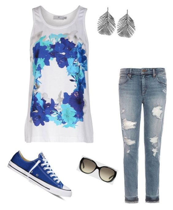 Casual day out by jennie-marie-maldonado on Polyvore featuring polyvore, fashion, style, adidas, Joe's Jeans, Converse, Alex Monroe, Gucci and clothing