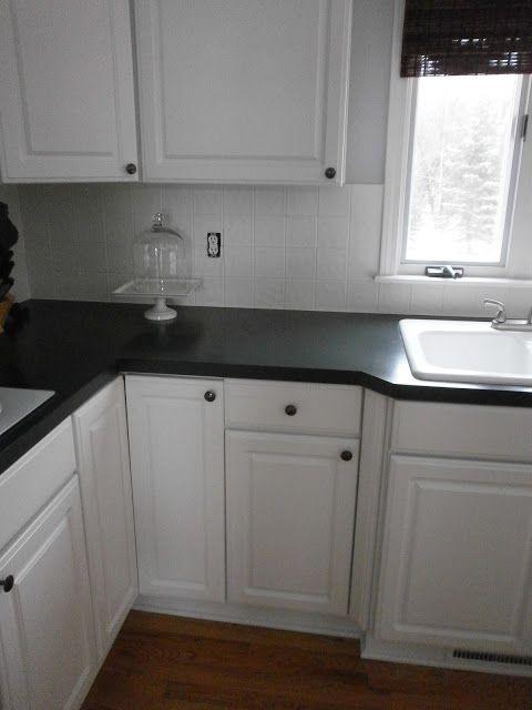 Diy projects kitchen renovations small budget fix for Painting ceramic tile kitchen backsplash