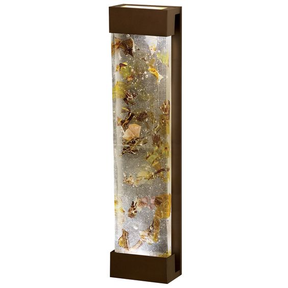 Fine Art Lamps Crystal Bakehouse Metal Glass Sconce