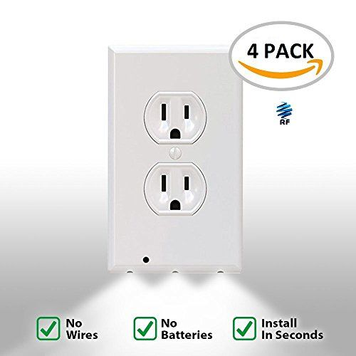 4 Pack Night Light Outlet Wall Plate With Led Night L Plates On Wall Led Night Light Installation