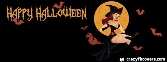 Sexy Witch Happy Halloween Facebook Cover - Facebook Timeline Cover Photo - Fb Cover