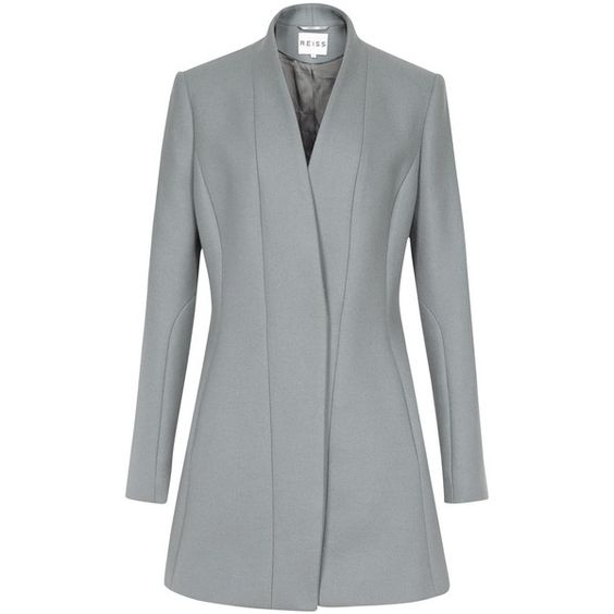 Reiss Delaney Fitted Coat, Grey (15.800 RUB) ❤ liked on Polyvore ...