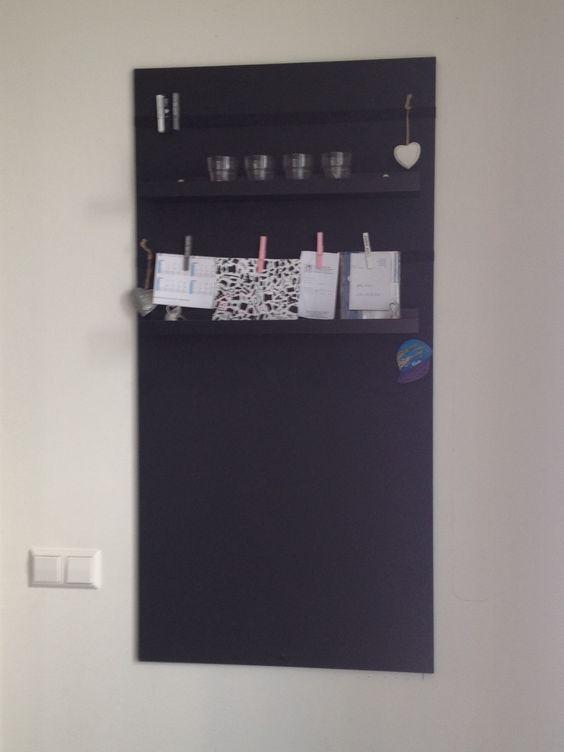 Krijtbord Keuken Ikea : ikea, elastiekband breed en leuke knijpers van xenos. Nog steeds