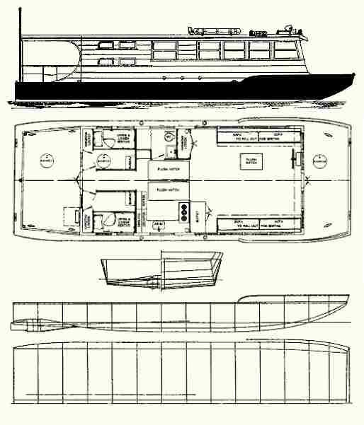 There Are 6 Houseboat Plans And Plans For Funboats And Pontoon