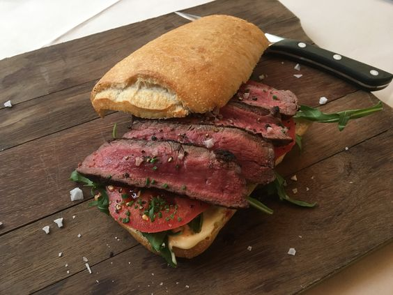[m]eatery bar & restaurant in Hamburg Germany, a fantastic steak sandwich