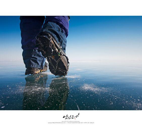 Ice road. Caminando sobre el hielo