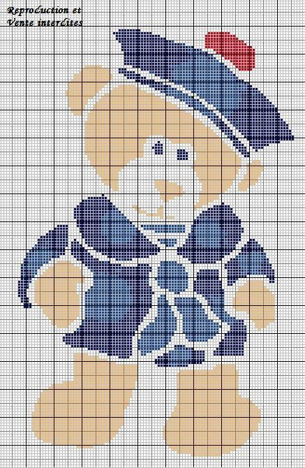 broderie point de croix ourson_marin.jpg (437×670)