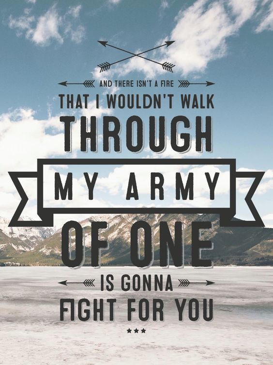 Coldplay - Army of One Lyrics