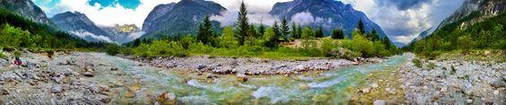 River Soča in Trenta valley