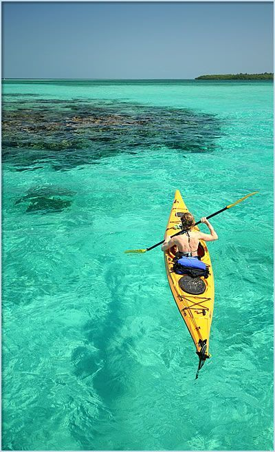 Kayaking the Cays in Belize, snorkeling and diving along the way