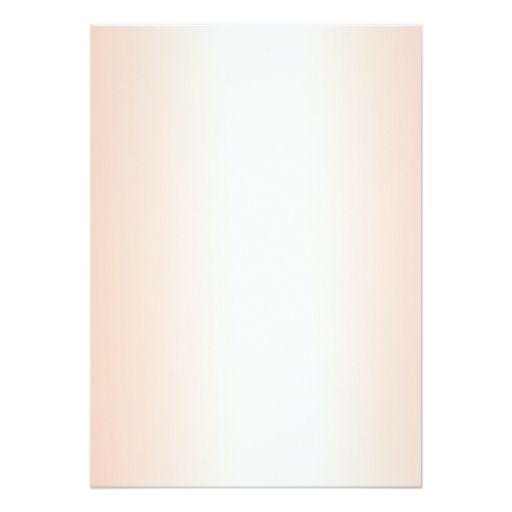 Orange Gradient Blank Wedding Fan Program Paper 5x7 Paper Invitation Card
